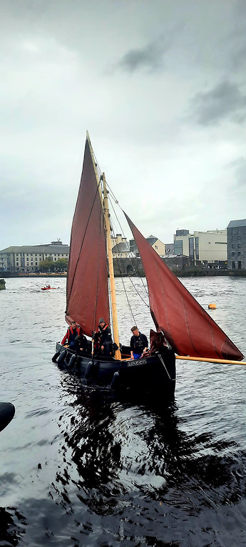 The gleoiteog has been restored, plank by plank, by the Galway Hooker Sailing Association