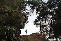 An athlete running in Iten, Kenya.