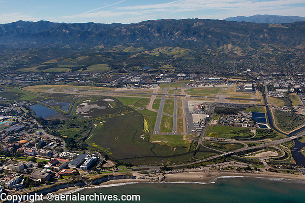 aerial photograph of the Santa Barbara Airport (SBA), California