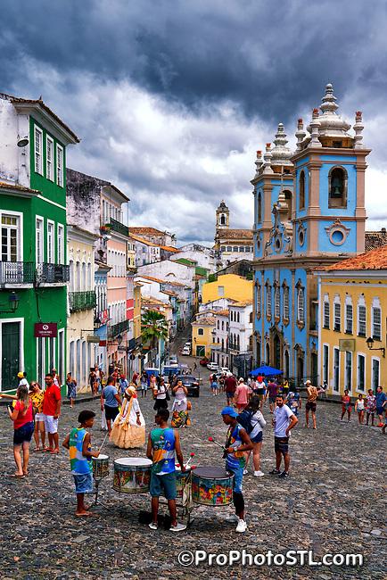Pelourinho in Salvador, State of Bahia, Brazil