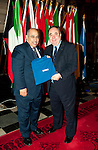 First Minister Alex Salmond, First Minister of Scotland presents His Excellency Dr. Adel Babesail (League of Arab States) with a gift following the dinner and reception held at Edinburgh Castle this evening..Pic Kenny Smith, Kenny Smith Photography.6 Bluebell Grove, Kelty, Fife, KY4 0GX .Tel 07809 450119,