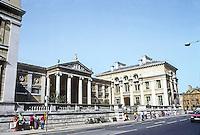 Oxford: The Ashmolean Museum, 3/4 elevation, 1841-1845. C.R. Cockerell. Beaumont Street. Photo '87.
