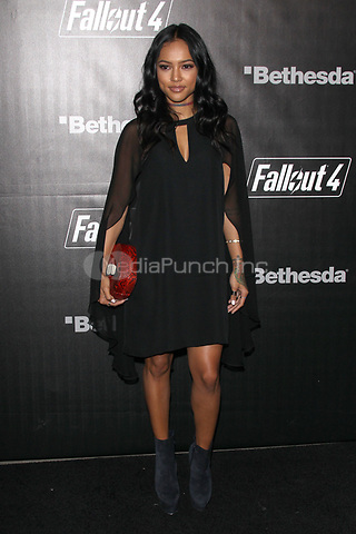 LOS ANGELES, CA - NOVEMBER 5: Karrueche Tran at the Fallout 4 video game launch event in downtown Los Angeles on November 5, 2015 in Los Angeles, California. Credit: mpi21/MediaPunch
