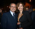 SAVERIO FERRAGINA CON ANNA GALIENA<br /> INAUGURAZIONE PALAZZO FENDI ROMA 2005
