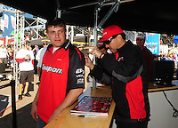 Mar. 13, 2011; Gainesville, FL, USA; NHRA funny car driver Cruz Pedregon during the Gatornationals at Gainesville Raceway. Mandatory Credit: Mark J. Rebilas-