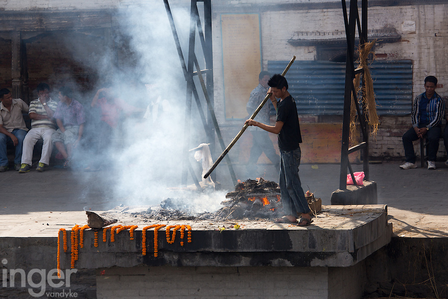 Funeral Fire at Pashupatinath, Nepal