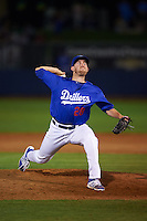 Tulsa Drillers pitcher Jacob Rhame (28) delivers a pitch during a game against the Midland RockHounds on June 2, 2015 at Oneok Field in Tulsa, Oklahoma.  Midland defeated Tulsa 6-5.  (Mike Janes/Four Seam Images)