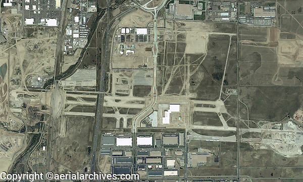 aerial map abandoned Stapleton airport, Denver, Colorado