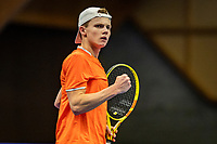 Alphen aan den Rijn, Netherlands, December 18, 2019, TV Nieuwe Sloot,  NK Tennis, Jesper de Jong (NED)<br /> Photo: www.tennisimages.com/Henk Koster