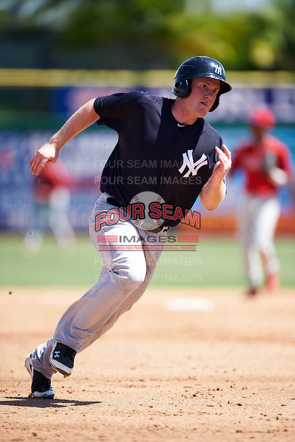New York Yankees Billy McKinney (54) during an Instructional League game against the Philadelphia Phillies on September 27, 2016 at Bright House Field in Clearwater, Florida.  (Mike Janes/Four Seam Images)