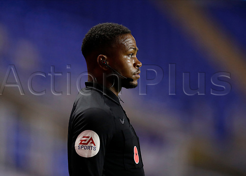 4th November 2020; Madejski Stadium, Reading, Berkshire, England; English Football League Championship Football, Reading versus Preston North End; Linesmen Akil Howson watches play