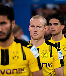 Borussia Dortmund midfielder Sebastian Rode (c) getting into the field for the match against Manchester City FC during their 2016 International Champions Cup China match at the Shenzhen Stadium on 28 July 2016 in Shenzhen, China. Photo by Marcio Machado / Power Sport Images