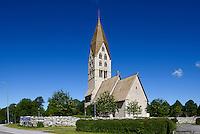 Kirche von Tingstäde (12./13.Jh.) auf der Insel Gotland, Schweden, Europa<br /> Church of Tingstäde (12.713.c.), Isle of Gotland, Sweden