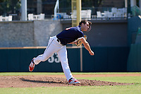 Pitcher Chase Petty (4) during the Baseball Factory All-Star Classic at Dr. Pepper Ballpark on October 4, 2020 in Frisco, Texas.  Pitcher Chase Petty (4), a resident of Somers Point, New Jersey, attends Mainland Regional High School.  (Mike Augustin/Four Seam Images)