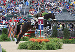 Geoff Curran and The Jump Jet of Ireland compete in the final stadium jumping round of the FEI  World Eventing Championship at the Alltech World Equestrian Games in Lexington, Kentucky.