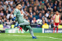 Real Madrid Keylor Navas during Semi Finals UEFA Champions League match between Real Madrid and Bayern Munich at Santiago Bernabeu Stadium in Madrid, Spain. May 01, 2018.  *** Local Caption *** © pixathlon<br /> Contact: +49-40-22 63 02 60 , info@pixathlon.de