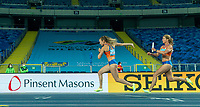 1st May 2021; Silesian Stadium, Chorzow, Poland; World Athletics Relays 2021. Day 1; Ladies 4 x 100m race, Nadine Visser takes the Baton for the Netherlands from Dafne Schippers