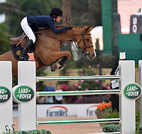 WELLINGTON, FL - APRIL 02:  The Winter Equestrian Festival (WEF) is the largest, longest running hunter/jumper equestrian event in the world held at the Palm Beach International Equestrian Center. Jessica Rae Springsteen (born December 30, 1991) is an American show jumping champion rider who has represented the United States in the Show Jumping World Cup and the 2012 FEI Nations Cup. Jessica is the second child and only daughter of Bruce Springsteen and Patti Scialfa on April 2, 2016  in Wellington, Florida.<br /> <br /> <br /> People:  Jessica Springsteen