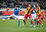 Partick Thistle v St Johnstone…28.10.17…  Firhill…  SPFL<br />Paul Paton can't make a proper contact with the ball<br />Picture by Graeme Hart. <br />Copyright Perthshire Picture Agency<br />Tel: 01738 623350  Mobile: 07990 594431