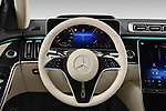 Car pictures of steering wheel view of a 2021 Mercedes Benz S-Class S-350 4 Door Sedan Steering Wheel