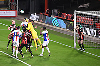 15th September 2020; Vitality Stadium, Bournemouth, Dorset, England; English Football League Cup, Carabao Cup Football, Bournemouth Athletic versus Crystal Palace; Asmir Begovic of Bournemouth punches the ball clear