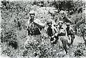 Iraq 1981<br /> Peshmergas arriving in Tujala , first on the left, Mamosta Rostam and 3rd from left, Mamosta Jaffar<br /> Irak 1981<br /> Arrivee a  Tujala de Mamosta Rostam, premier a gauche avec Mamosta Jaffar , 3eme a gauche avec des peshmergas