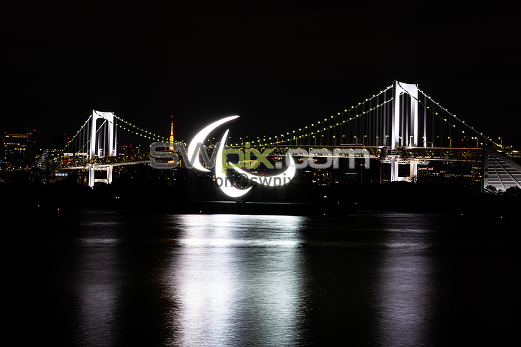 Picture by Alex Whitehead/SWpix.com - Tokyo 2020 Olympics and Paralympics - August 2021 - Tokyo, Japan - Rainbow Bridge and Agitos.