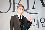 """Jun-Su (JYJ), Jul 11, 2016 : XIA (Junsu) poses during a news conference promoting a new musical """"Dorian Gray"""" in Seoul, South Korea. The musical is based on Oscar Wilde's novel """"The Picture of Dorian Gray"""" and Junsu will play the lead role Dorian Gray. The creative musical will be opened at Seongnam Arts Center's Opera House in South Korea on September 3, 2016. (Photo by Lee Jae- Won/AFLO) (SOUTH KOREA)"""