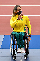 Madison de Rozario  wins the GOLD medal in the Womens marathon<br /> Olympic Stadium / Athletics<br /> 2020 Tokyo Paralympic Games<br /> Paralympics Australia / Day 12<br /> Tokyo Japan :  Sunday 5 Sept  2021<br /> © Sport the library / Jeff Crow / PA
