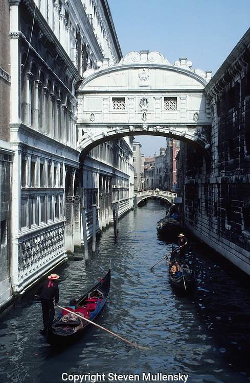 It is said that the Bridge of Sighs got its name from the anguished sighs from the prisoners and they were taken across to the prison.