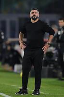 Gennaro Gattuso coach of SSC Napoli looks on during the Italy Cup football match between SSC Napoli and Empoli FC at stadio Diego Armando Maradona in Napoli (Italy), January 13, 2021. <br /> Photo Cesare Purini / Insidefoto