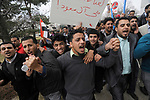 A group of Yemeni, Lebanese, Iraqi, and other supporters walk in unity following a rally which protested Saudi-led airstrikes.  Photo taken on Sunday, April 5, 2015, outside the Henry Ford Centennial Library in Dearborn, Mich.  (Jose Juarez/Special to The Detroit News)