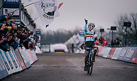 Sanne Cant (BEL/Iko-Beobank) wins the Women's Elite Race at the UCI CX Worlds 2018 in Valkenburg - The Netherlands