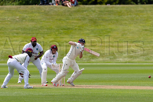 20th November 2020; John Davies Oval, Queenstown, Otago, South Island of New Zealand. NZ A's Henry Nicholl's hits through the covers