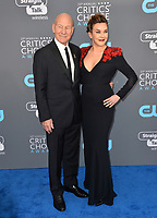Patrick Stewart & Sunny Ozell at the 23rd Annual Critics' Choice Awards at Barker Hangar, Santa Monica, USA 11 Jan. 2018<br /> Picture: Paul Smith/Featureflash/SilverHub 0208 004 5359 sales@silverhubmedia.com