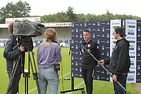 headcoach Angelo Gaytant of Zulte Waregem  pictured during an interview before a female soccer game between SV Zulte - Waregem and Club Brugge YLA on the fourth matchday of the 2021 - 2022 season of the Belgian Scooore Womens Super League , saturday 11 of September 2021  in Harelbeke , Belgium . PHOTO SPORTPIX | DIRK VUYLSTEKE