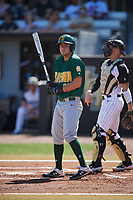 Siena Saints right fielder Nick Melillo (23) bats during a game against the UCF Knights on February 17, 2019 at John Euliano Park in Orlando, Florida.  UCF defeated Siena 7-1.  (Mike Janes/Four Seam Images)