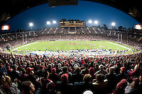 STANFORD, CA - November 6, 2010: Wide view of Stanford Stadium during a 42-17 Stanford win over the University of Arizona, in Stanford, California.