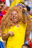 Columbia fan with massive hair