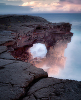 Unnamed sea arch in the Puna district, Hawaii.