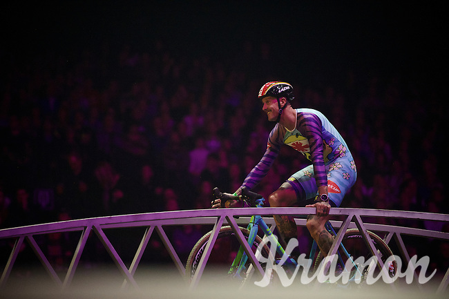 Ben Berden (BEL/W-Cup) participated in the celebration<br /> <br /> 'Merci Sven' (twice!) sold out arena event: <br /> tribute-show celebrating Sven Nys' career/retirement together with 18.000 people in the Sportpaleis Arena