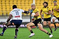 Jonathan Taumateine of the Hurricanes during the Super Rugby - Hurricanes v Rebels at Sky Stadium, Wellington, New Zealand on Friday 21 May 2021.<br /> Photo by Masanori Udagawa. <br /> www.photowellington.photoshelter.com