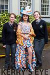 Spill the Tea created by Roisin Ní Mhaolaoidh and Emma Nic Gearailt, modelled by Ella Ní Bhraoin, students of Gaelcholáiste Chiarraí display their creations for this years Junk Koture at the school on Friday.