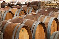 Domaine Cazeneuve in Lauret. Pic St Loup. Languedoc. Barrel cellar. France. Europe.