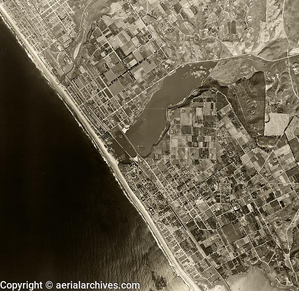 historical aerial photograph Carlsbad, San Diego County, California, 1947