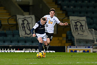 16th March 2021; Dens Park, Dundee, Scotland; Scottish Championship Football, Dundee FC versus Ayr United; Sam Fisher of Dundee challenges for the ball with Mark McKenzie of Ayr United