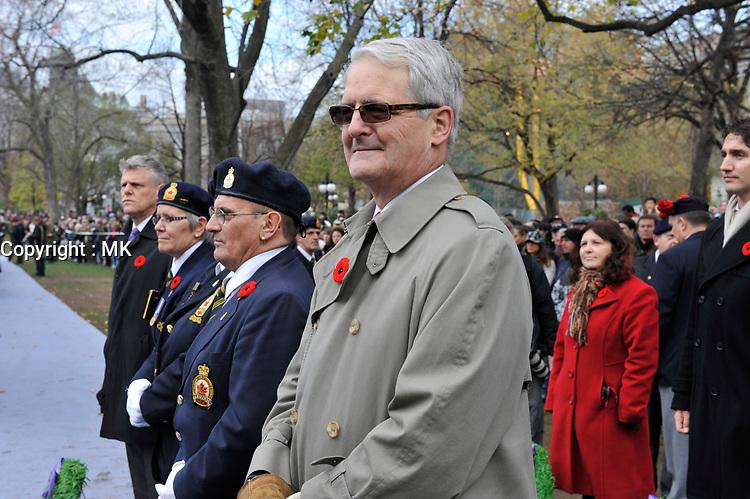Nov 11, 2012 - Montreal, Quebec, CANADA -  Remembrance Day - Marc Garneau
