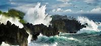 Waves off Wai'anapanapa State Park, Maui, Hawaii
