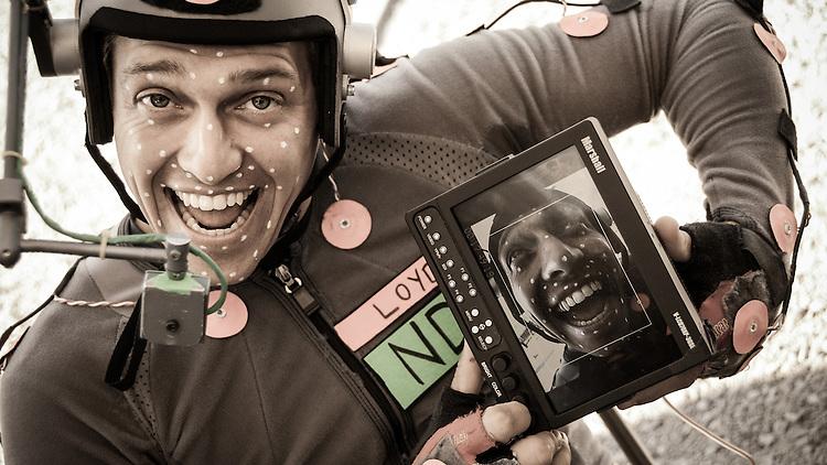 Loyd Bateman showing the view from his helmet cam