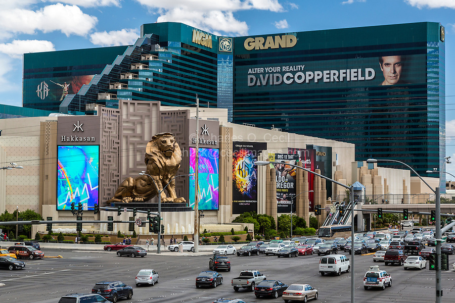 Las Vegas, Nevada.  MGM Grand Hotel and Casino, Corner of South Las Vegas Boulevard and Tropicana Avenue.
